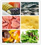 Embalaje de los pescados y balanza