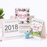Calendario de pared laminado aduana de la impresión en offset de la alta calidad, calendario de escritorio