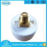 manomètre médical d'indicateur de pression de boîtier plastique blanc de qualité de 40mm