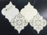 Piedra Natural White Water Jet flor de mármol de Carrara del mosaico del azulejo