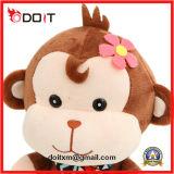 Animal de peluche de singe bourré par singe animal de peluche de 3 couleurs