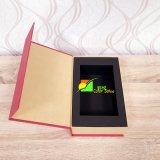 Rectángulo de regalo colorido del embalaje del almacenaje del papel de arte con la bandeja negra