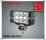 6 luz de conducción brillante estupenda de la luz 6000k LED del trabajo de la pulgada 24W LED