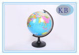 Globo plástico de la etiqueta engomada del mundo de papel de 14.16 cm
