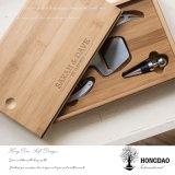 Caja de embalaje de madera de bambú de Hongdao para las herramientas del vino