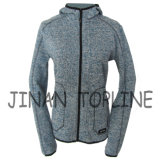 Femmes Long Zipper Cationic Hoody Fleece Jacket