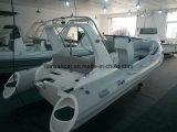 Barca eccellente Cina della nervatura della barca gonfiabile di Hypalon dell'yacht del motore del guscio della vetroresina di Liya 5.8m