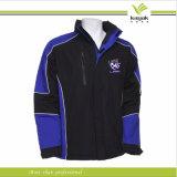 Hood (KY-J011)를 가진 주문 Mens Plain Black Windbreaker Jacket