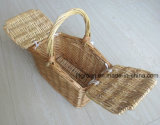 Cestino di vimini del regalo dei capretti di alta qualità del salice del cestino Handmade del giocattolo