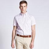 Camisa ocasional de los hombres de la funda del cortocircuito de la camisa de los hombres de la alineada del asunto del precio bajo para la venta
