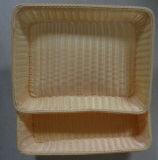 Corbeille à pain en plastique en osier de rotin faux fait main ; Panier de stockage