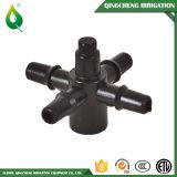 Männliche schwarze Plastikbewässerung-Antientwässerung-Ventil