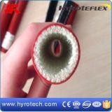 Brand - Glasvezel Sleeving van het Silicone van de vertrager de Rubber Met een laag bedekte die in Staalfabriek wordt gebruikt