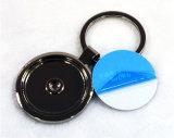 創造的な様式の円形の金属のKeychainのブランク昇華キーホルダー