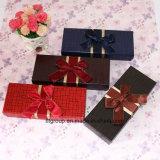 Caja de papel de calidad fina para embalaje de chocolate con cinta