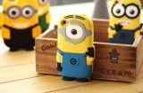iPhone 6 аргументы за силикона миньонов, желтый случай миньона шаржа iPhone 6 аргументы за силикона миньона 3D