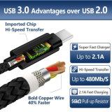 O USB datilografa o cabo 3.0 de C para o interruptor novo e o mais da galáxia S8 Nintendo do nexo 5X 6p LG G5 G6 V20 Samsung do XL do pixel de MacBook