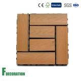 La résistance de l'impact de coût bas facile installent les tuiles composées en bois antidérapantes de Decking