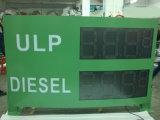 """O dobro tomou o partido """" sinal ao ar livre do preço de gás do diodo emissor de luz da cor 15 vermelha"""