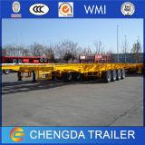 20FT 40FT 6m Chassis van de Aanhangwagen van de Container van 12m TriAssen Skeletachtige