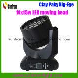 matériel du DJ de disco de lumière d'oeil de lavage principal mobile de 19PCS X de 15W DEL grand