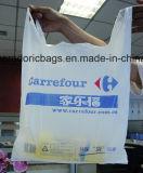 [هدب] بيضاء يطبع بلاستيكيّة [ت-شيرت] حقيبة