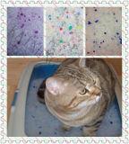 Litière du chat colorée de silicagel