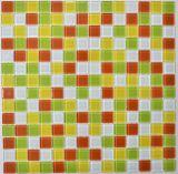 Azulejo de mosaico de cristal del color mezclado