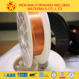 fio de soldadura do CO2 do carretel 15kg/Plastic Er70s-6 de 1.0mm do fabricante do produto da soldadura