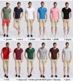 T-shirt rond blanc ordinaire en gros de coton de Quatity de collet pour les hommes (xy20230)