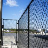 Barrière enduite par PVC de maillon de chaîne/barrière galvanisée plongée chaude de maillon de chaîne pour le stade