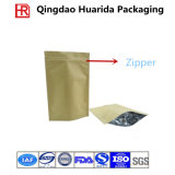 プラスチック最下のガセットはジッパーの飼い犬の食糧袋を立てる