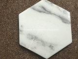 白いストリップの大理石のコースター/石の飲み物のコースターとの黒