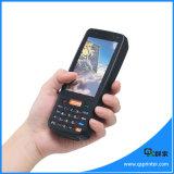 Scanner androïde mobile tenu dans la main de code barres de l'écran tactile 4G Lte Bluetooth Pdas