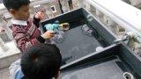 옥외 장난감 거품 전자총이 LED에 의하여 비누방울 송풍기 농담을 한다