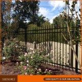 Cerca decorativa revestida del jardín de la seguridad de la punta de lanza del polvo