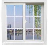 Hermético/insonoro/Calor-Aislar la ventana de desplazamiento del PVC con diseño de la parrilla