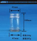 Traditionelle Essiggurke-Marmeladen-Glas-Glaswaren mit Schrauben-Kappen