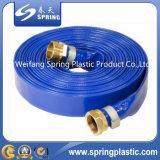 Mangueira azul da irrigação da água do PVC Layflat para agricultural