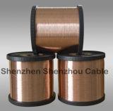 Alumínio folheado de cobre contra o fio folheado de cobre do CCA do alumínio