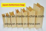 Bolsa de papel automatizada anchura modificada para requisitos particulares que hace que la parte inferior del cuadrado del papel de máquina empaqueta la fabricación de la máquina
