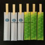 Mao palillos de bambú con envoltorio de papel
