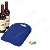 Luva do refrigerador do frasco de vinho vermelho do neopreno 2-Pack com o GV no piquenique azul