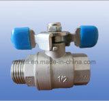 Manufatura industrial da válvula de esfera do aço inoxidável