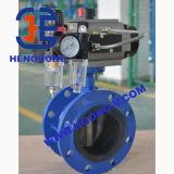 API/DIN 압력 전기 무쇠 플랜지 나비 벨브