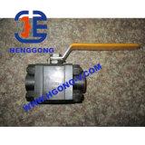 API/JIS/DIN forjó la vávula de bola soldada de alta presión del acero 3PC