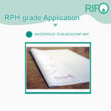 Película sintética BOPP de superfície fosca Rph-400 resistente à água com MSDS