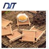 Prato de copa de chá de bambu puro puro feito à mão pela fábrica