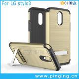 Caja dura del teléfono de Kickstand del impacto rugoso para LG Stylo 3