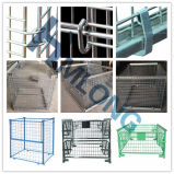 Wooden Pallet를 가진 금속 Stackable Wire Cage Pallet